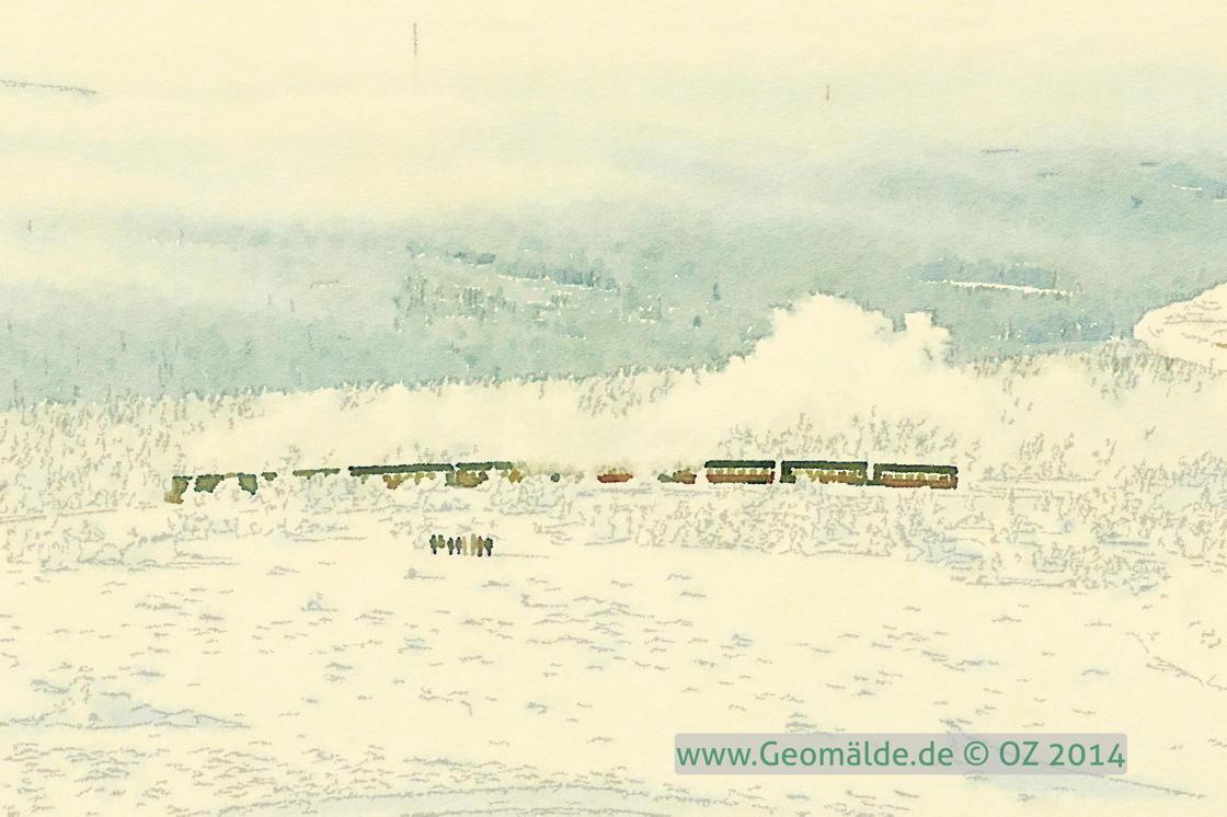 Brocken: Bahn im Schnee