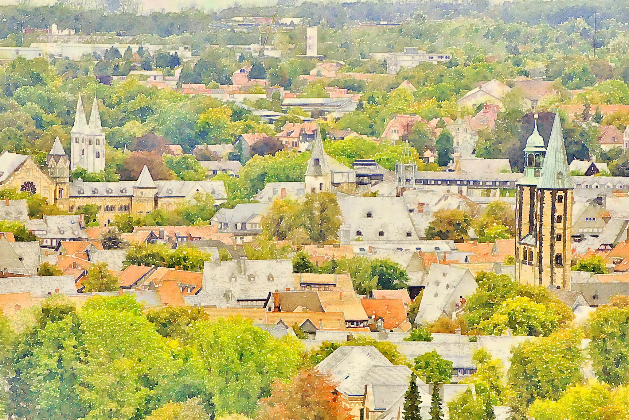 Goslar vom Blauen Haufen