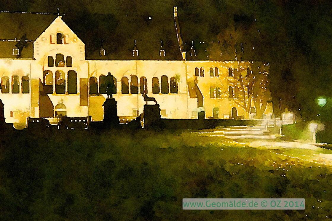 Kaiserpfalz, nachts