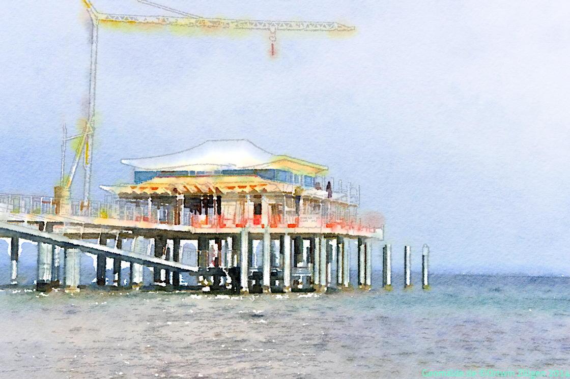 eine neue Pier am Timmendorf Strand