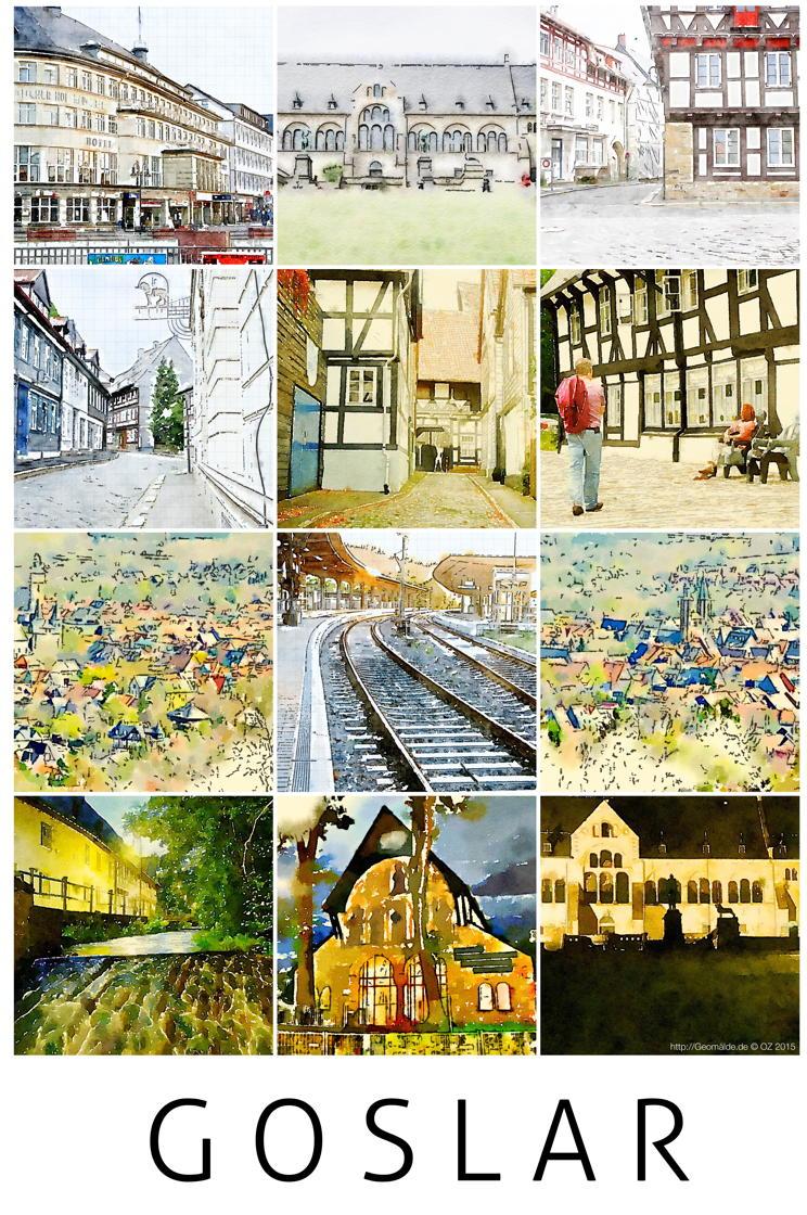 Plakat Goslar 2015, 50x75 cm