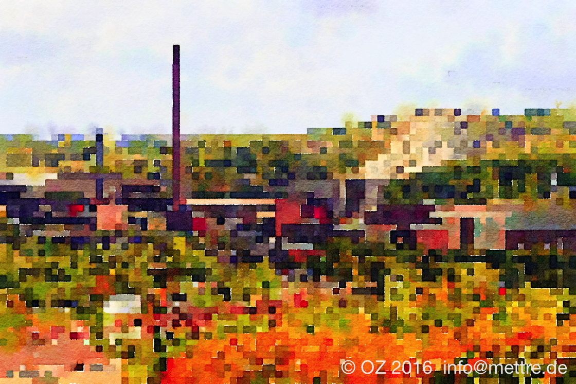 vom Bollrich in Richtung Osten, über Bahn, Industrie in den Steinbruch Harlingerode