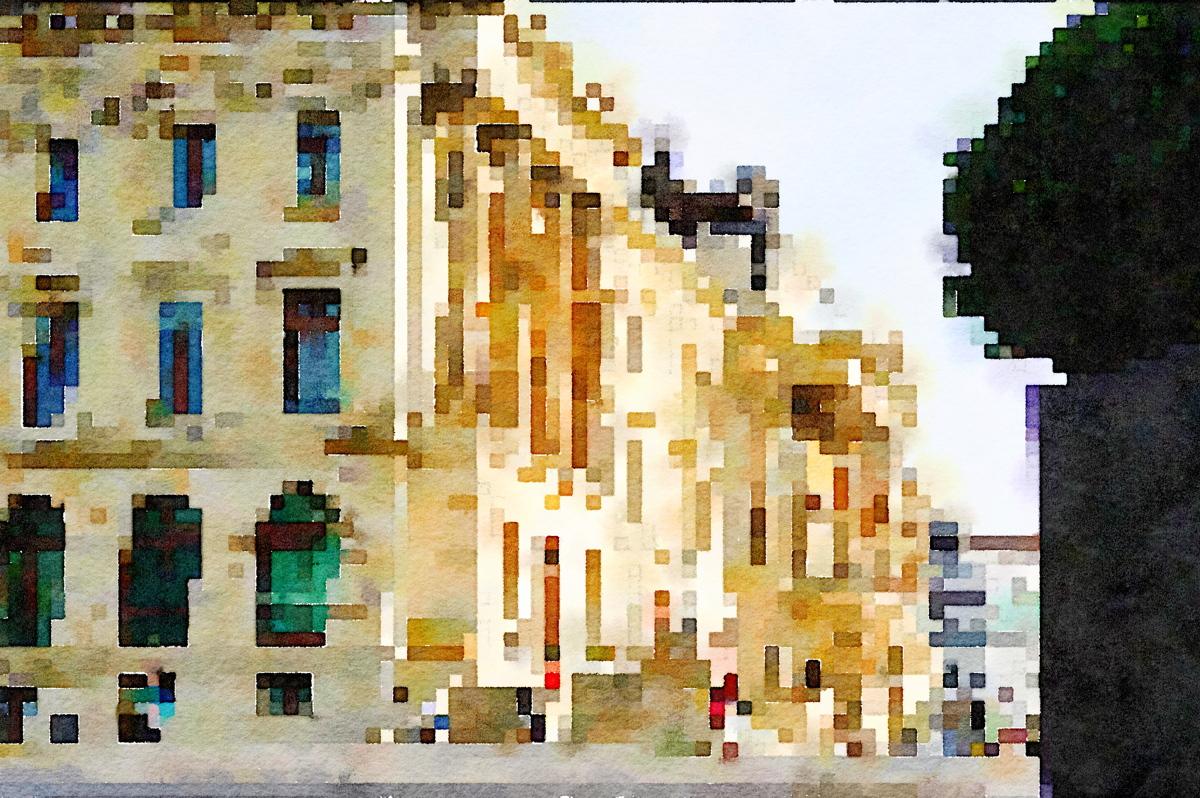 Braunschweig Schloß, von der Seite