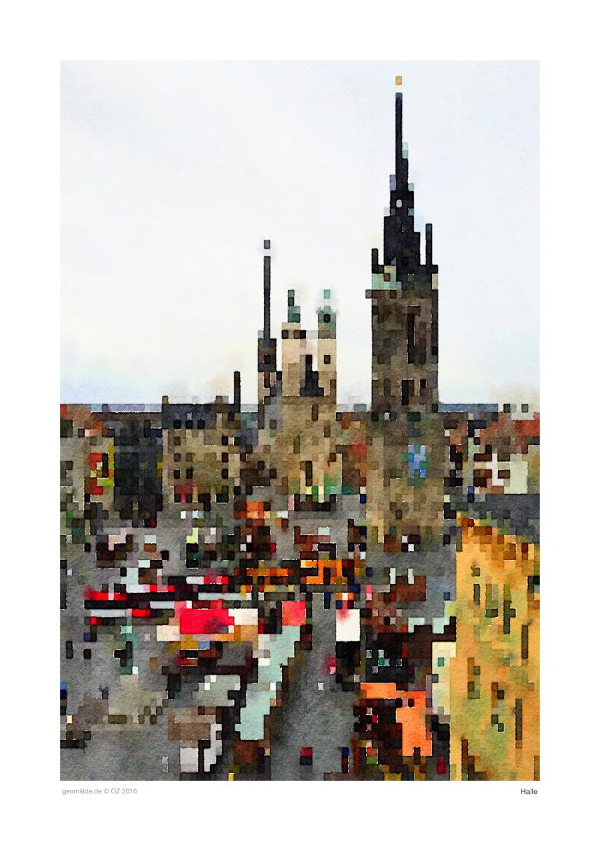 Der Marktplatz in Halle