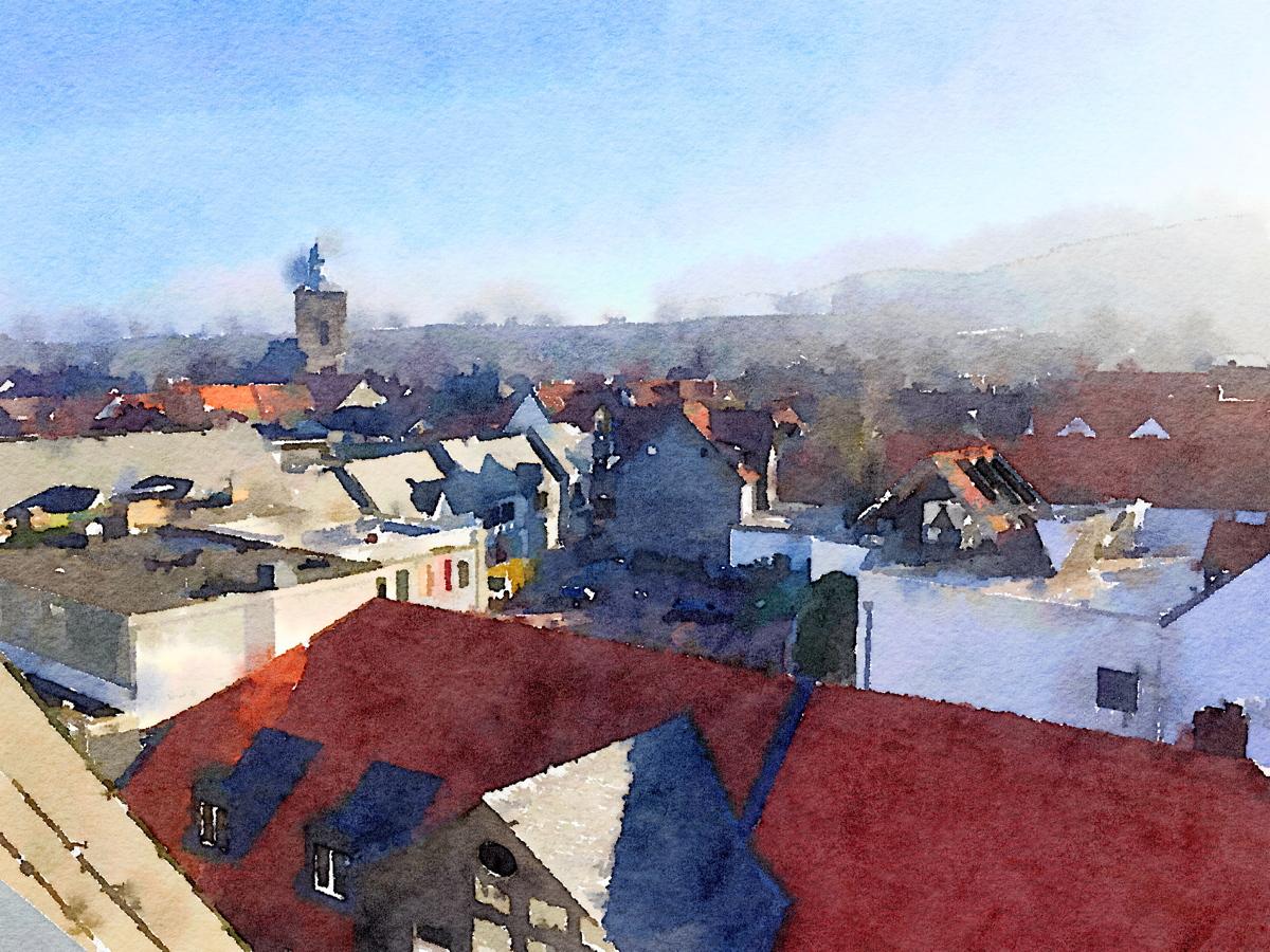 Goslar Karstadt Parkhaus nach Osten